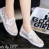 พร้อมส่ง : รองเท้าลูกไม้สไตล์ Givenchy (สีขาว)