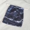 ถุงผ้าซาติน ลายหินอ่อนสีกรม - Navy Marble