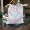 ถุงผ้าซาติน ลาย Moon - Pink