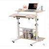 Pre-order โต๊ะทำงานปรับระดับ โต๊ะคอมพิวเตอร์ปรับระดับ โต๊ะพรีเซนต์งาน โต๊ะยืนทำงาน สีบีช