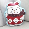 หมอนของขวัญพร้อมส่ง Santa Snowman