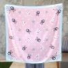 ผ้าพันคอ ลาย Rabbit Family - Pink พร้อมส่ง