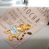 ผ้าห่ม ใส่ประวัติแรกเกิด ลายเสือ สี mocha ไซส์ใหญ่ 100x150cm
