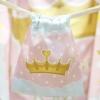 ถุงผ้าซาติน ลายเจ้าหญิง สีชมพู - Princess / Pink