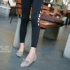 รองเท้าคัทชูหัวแหลมแต่งโบว์ (สีเทา)