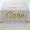 ผ้าห่ม สั่งทำใส่ชื่อ ลายหินอ่อนสีเทา - Gold