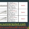 LED Sensor T8 tube STC-QF-T8S18W-IN