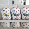 หมอนสั่งทำใส่ชื่อ ลายแมวกวัก - Maneki-neko (lucky cat)