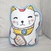 หมอนของขวัญพร้อมส่ง Maneki-neko (lucky cat) - Blue