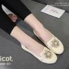 รองเท้าคัทชูลูกไม้ Style Roger Vivier (สีครีม)