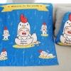 ผ้าห่มเด็ก ใส่ชื่อ ลายกุ๊กไก่ สีน้ำเงิน / Kook Kai - Navy