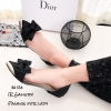 รองเท้าคัทชูพียูใส (สีดำ)