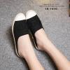 รองเท้า Chanel Espadrilles รุ่นเปิดส้น (สีดำ)