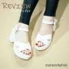 พร้อมส่ง : รองเท้าแฟชั่น Style Nanda Shoes (สีขาว)