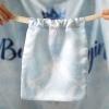ถุงผ้าซาติน ลายหินอ่อนสีฟ้า - Blue Marble