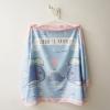 ผ้าคลุมให้นม สั่งทำใส่ชือ ลาย Whale - Blue/Pink