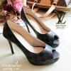 รองเท้าคัทชู Loius Vuitton Damier (สีดำ)