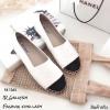 รองเท้า Style Chanel Espadrilles รุ่นหนัง (สีขาว)