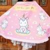 ผ้าคลุมให้นม สั่งทำใส่ชือ ลาย Unicorn - Pink