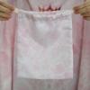 ถุงผ้าซาติน ลายหินอ่อนสีชมพู - Pink Marble