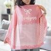 ผ้าคลุมให้นม สั่งทำใส่ชือ ลาย Houndstooth - Pink