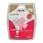 "4 Port USB HUB ""OKER"" (H365) คละสี"