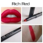 **พร้อมส่ง**e.l.f. Matte Lip Color #Rich Red 1.4g. ดินสอเขียนขอบปากขนาดใหญ่พิเศษ ใช้ง่ายไม่ต้องเหลา เม็ดสีแน่น พร้อมมอบสีสันสดใสคมชัดติดทนยาวนานตลอดวัน สามารถใช้เป็นดินสอเขียนขอบปากเพื่อเพิ่มความสมบูรณ์แบบ หรือใช้ทาทั่วริมฝีปากแทนลิปสติกเพื่อความโดดเด่นแล