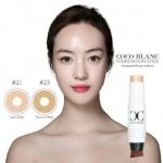 Coco Blanc Aura Foundation Stick SPF 50/PA++ รองพื้นแบบแท่งที่กันน้ำกันเหงื่อ กันแดด ระดับเทพ ฉ่ำวาวออร่าแบบสาวเกาหลี เปลี่ยนเบ้าหน้าใน 1 นาที ให้กระจ่างใส เนียนกริบ ตัวนี้นำเข้าจากเกาหลีนะคะ ยังคงคุณภาพและคอนเซ็ปเดิมของเรา คือ เงา ฉ่ำวาว แต่ไ ,