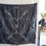 ผ้าพันคอ ลาย หินอ่อน - Black Marble พร้อมส่ง