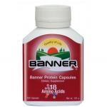 Banner Protien (18 Amino Acids) - แบนเนอร์ โปรตีน กรดอะมิโน 18 ชนิด กล่องสีแดง # 30 แคปซูล (ขวดเล็ก)