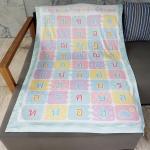 ผ้าห่ม ใส่ชื่อ ลาย ก-ฮ ไซส์ใหญ่ 100x150cm