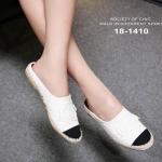 รองเท้า Chanel Espadrilles รุ่นเปิดส้น (สีขาว)