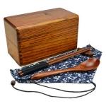 (พรีออเดอร์) กล่องข้าวไม้ กล่องข้าวญีปุ่น เบนโตะ กล่องห่ออาหารกลางวัน ไม้แท้ ลายสวย ปลอดภัย ทรงสี่เหลี่ยม สองชั้น สีโอ๊ค