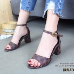 รองเท้าส้นตัน Style LV Damier