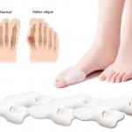 ซิลิโคนคั่นนิ้วเท้า (นิ้วโป้ง/นิ้วชี้) (x3 คู่)
