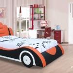เตียงรถ ขนาด 3 ฟุต งานดีไซน์หุ้มหนังบุฟองน้ำรอบคัน