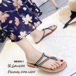 รองเท้าแตะแต่งเพชร Style Zara (สีดำ)