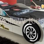 เตียงรถสปอร์ต เตียงเด็ก รุ่น Cool Kid Sport car สีขาว