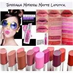 *พร้อมส่ง*Jordana Modern Matte Lipstick ลิปแมตตัวใหม่ติดทนแน่นกว่าเดิม! แต่มีความชุ่มชื้น ไม่ทำให้ปากแห้งหรือคล้ำ เนื้อเบา พิกเม้นที่ชัดเจนมาก กลบสีปากได้มิด แถมยังติดทนมากด้วยคือทาแล้วไม่ต้องเติมซ้ำบ่อยๆ มีสีให้เลือกมากถึง 18 สีในราคาที่ซื้อง่ายสบายกระเป