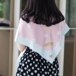 ผ้าพันคอ ลาย Princess - Pink พร้อมส่ง