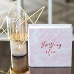 อัลบั้ม 100 รูป (5x7 นิ้ว) ลายหินอ่อนสีชมพู - สั่งทำใส่ชื่อ