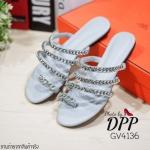 รองเท้าแตะโซ่ Style Givenchy (สีเทา)
