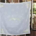 ผ้าพันคอ ลาย Jasmine - Bow - Grey สั่งทำใส่ชื่อ