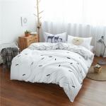 (Pre-order) ชุดผ้าปูที่นอน ปลอกหมอน ปลอกผ้าห่ม ผ้าคลุมเตียง ผ้าฝ้าย สีพื้น เวอร์ชั่นเกาหลี สีขาว