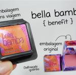 **พร้อมส่ง**Benefit Bella Bamba Blush ขนาดปกติ 10g. บรัชออนสีชมพูผสมชิมเมอร์สีทองทำให้พวงแก้มของคุณเป็นประกายสีทองอย่างเงางาม ติดทนยาวนาน แพคเกจน่ารัก ขนาดพกพาสะดวก เนื้อบลัชมีกลิ่นหอมของแตงโมอ่อนๆ ที่แสนพิเศษ ทำให้ใบหน้าของคุณดูโดดเด่นชมพูระเรือ , Benefi