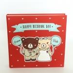 สมุดอวยพร / Scrapbook 60 หน้า Couple Teddy - Red - Happy Wedding Day