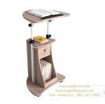 โต๊ะทำงาน โต๊ะยืนทำงาน โต๊ะคอม โต๊ะวางแท็บเล็ต โต๊ะพรีเซนต์งาน สีบีช