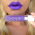 *พร้อมส่ง*Dose Of Colours Liquid Matte สี Purple Rain ลิปเนื้อแมทสนิท เข้าถึงทุกร่องปาก กลบสีปากเนี๊ยบ ฟินิชเป็นแมทแน่น ดูไกลๆเหมือนกำมะหยี่ สีนี้เเซ่บ และดูมีคลาสหรูหรา บอกเลยว่าไม่ว่าจะทาวันเที่ยว หรือทาออกงานก็รับรองว่าสวยโดดเด่น ติดทน ,