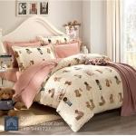 (Pre-order) ชุดผ้าปูที่นอน ปลอกหมอน ปลอกผ้าห่ม ผ้าคลุมเตียง ผ้าฝ้ายพิมพ์ลายการ์ตูนโทนสีชมพู