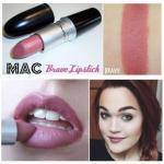 **พร้อมส่ง**M.A.C Satin Lipstick # Brave ลิปสติกเฉดสีแดงอมน้ำตาล สีสวยอย่างธรรมชาติ ผสานกลมกลืนกับสีผิว เนื้อเนียนเรียบเป็นมันวาว เย้ายวน มีเสน่ห์ในตัวคุณ ,